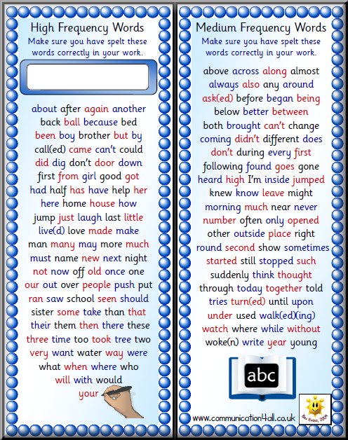 Literacy for Double sided bookmark template