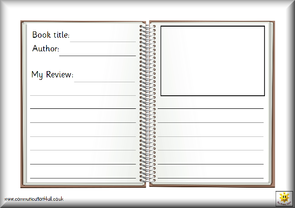 blank book template for kids - literacy
