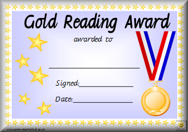 photo relating to Printable Reading Certificates called Awards