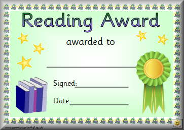 photo relating to Free Printable Reading Certificates named Absolutely free Printable Looking through Certification Templates