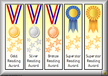 graphic relating to Printable Reading Certificates called Awards
