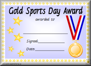 sports day certificate templates free awards