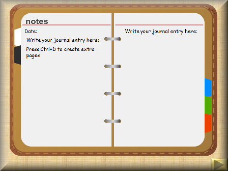 My diary – writing frames