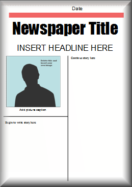 how to make a newspaper layout in microsoft publisher