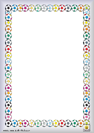 Football Borders Bordered paper, plain, lined
