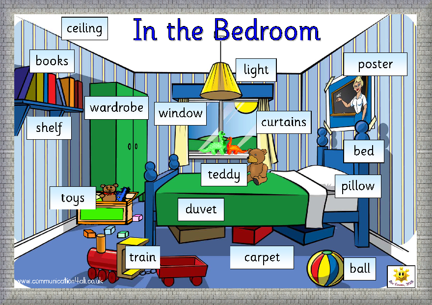 english kids fun in the bedroom