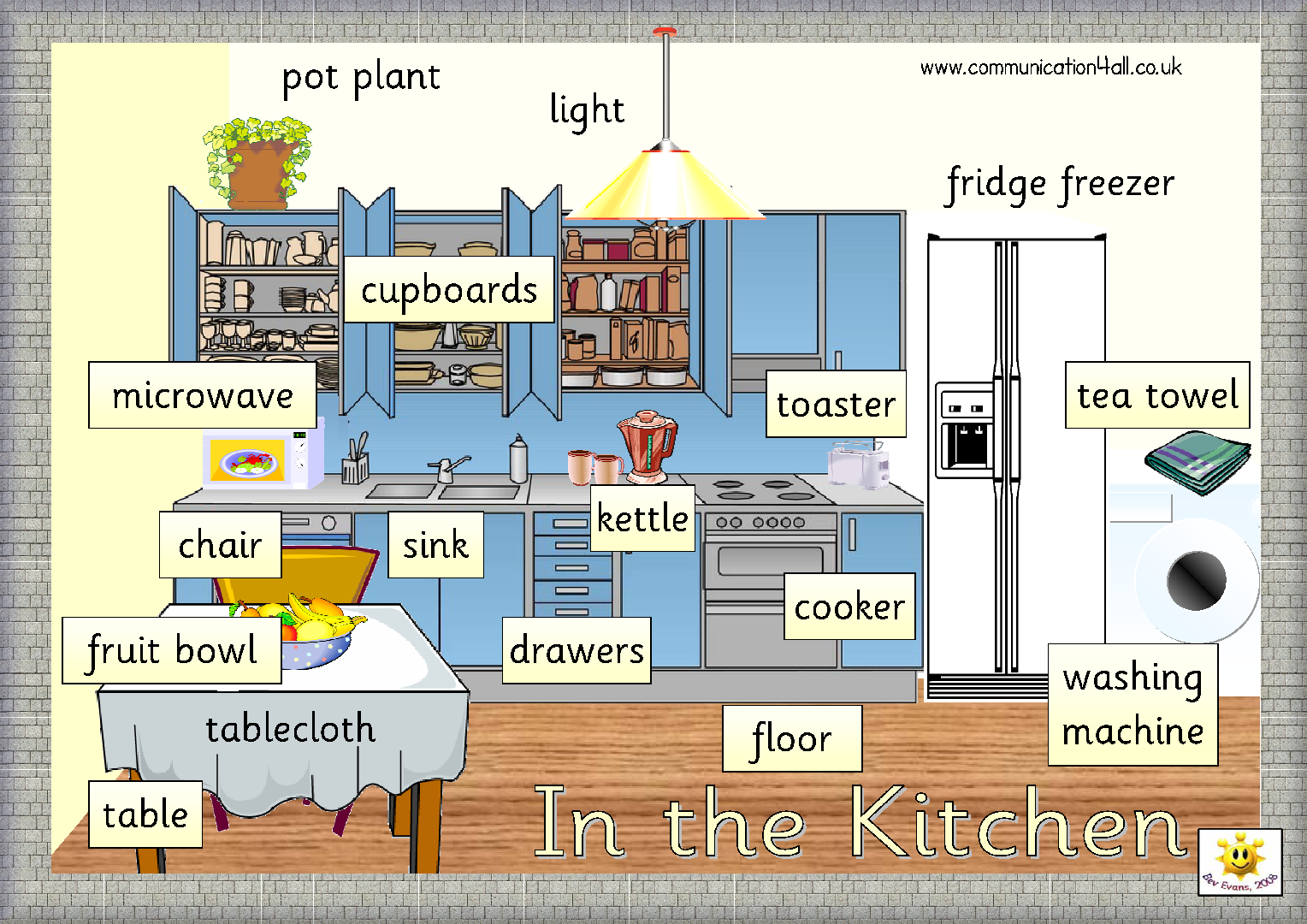 House vocabulary 3o educacion primaria sek atlantico for Furniture found in the home