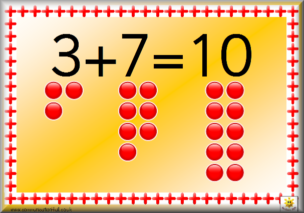 Simple Number Bonds Poster to 10: click on the image to download