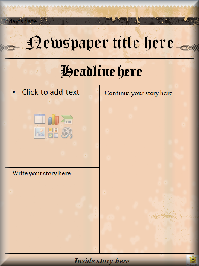 old fashioned newspaper template free - blank newspaper template the image kid