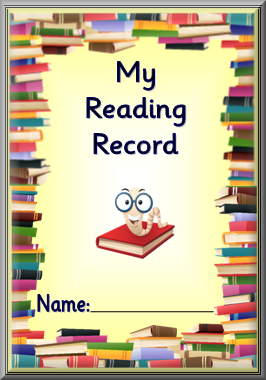 Printable reading records, for home or class readers, in 4 colours ...