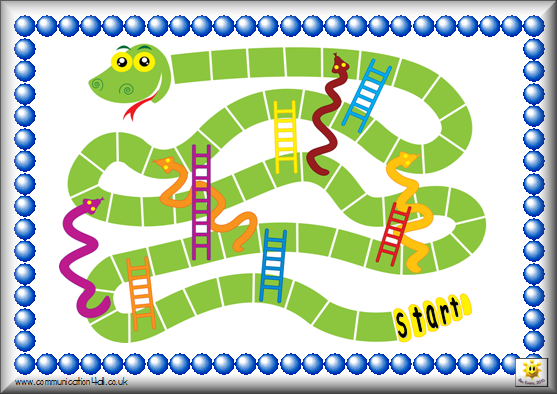 photograph relating to Snakes and Ladders Printable titled Board Game titles