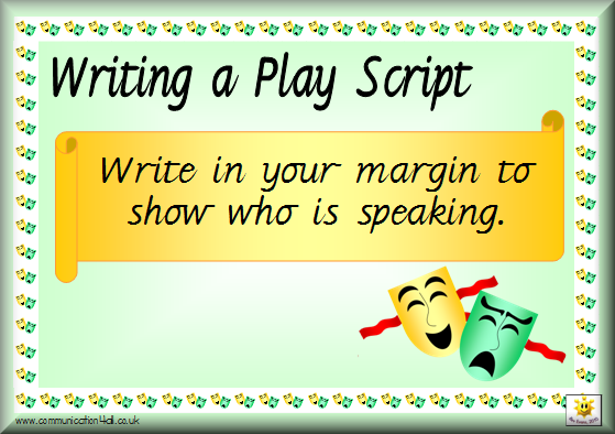 How to write a play script template ks2