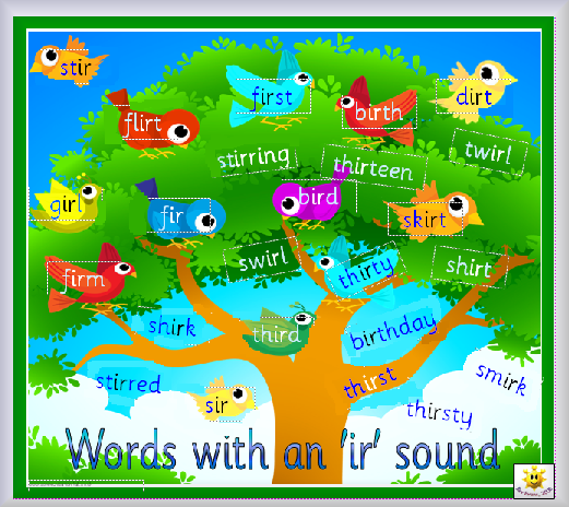 Printables Ir Words Phonics phonicsplus